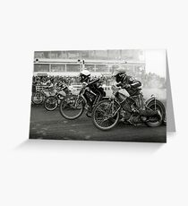 Speedway - Accelerating away Greeting Card