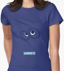 Inside Out of Sadness Women's Fitted T-Shirt