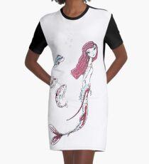 Koi Mermaid Graphic T-Shirt Dress
