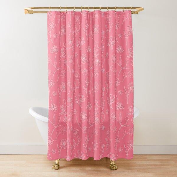 Botanical sketch strawberry Shower Curtain