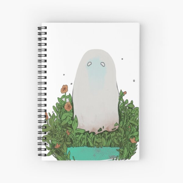 garden ghost Spiral Notebook
