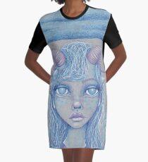 Mermaid of the Deep Graphic T-Shirt Dress