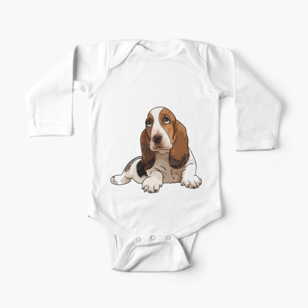Basset Hound Baby One Piece By Mattimac Redbubble