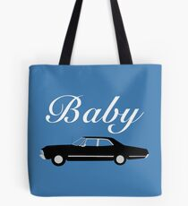 Supernatural Impala - Dean Winchester's Baby Tote Bag