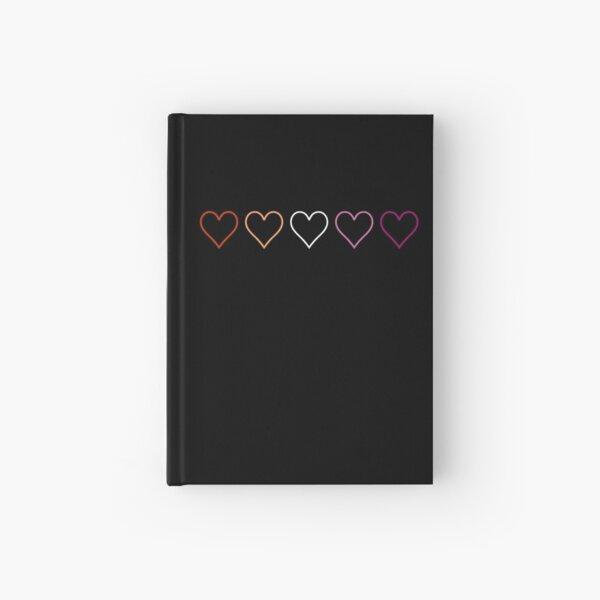 Subtle lesbian hearts Hardcover Journal