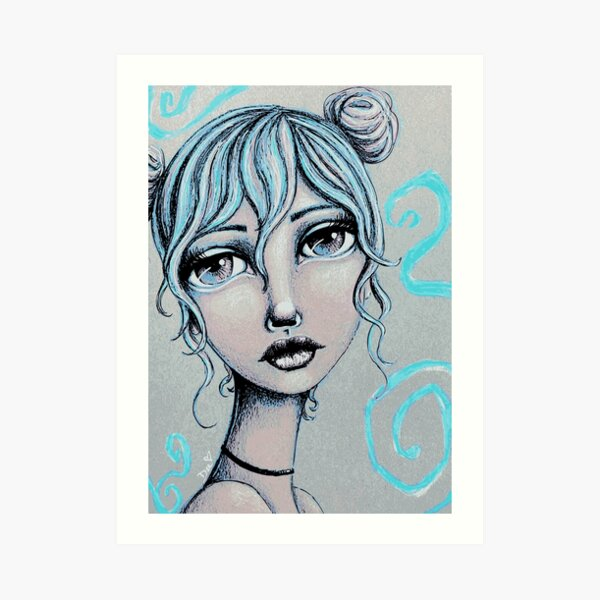 Space Buns for the Win Art Print