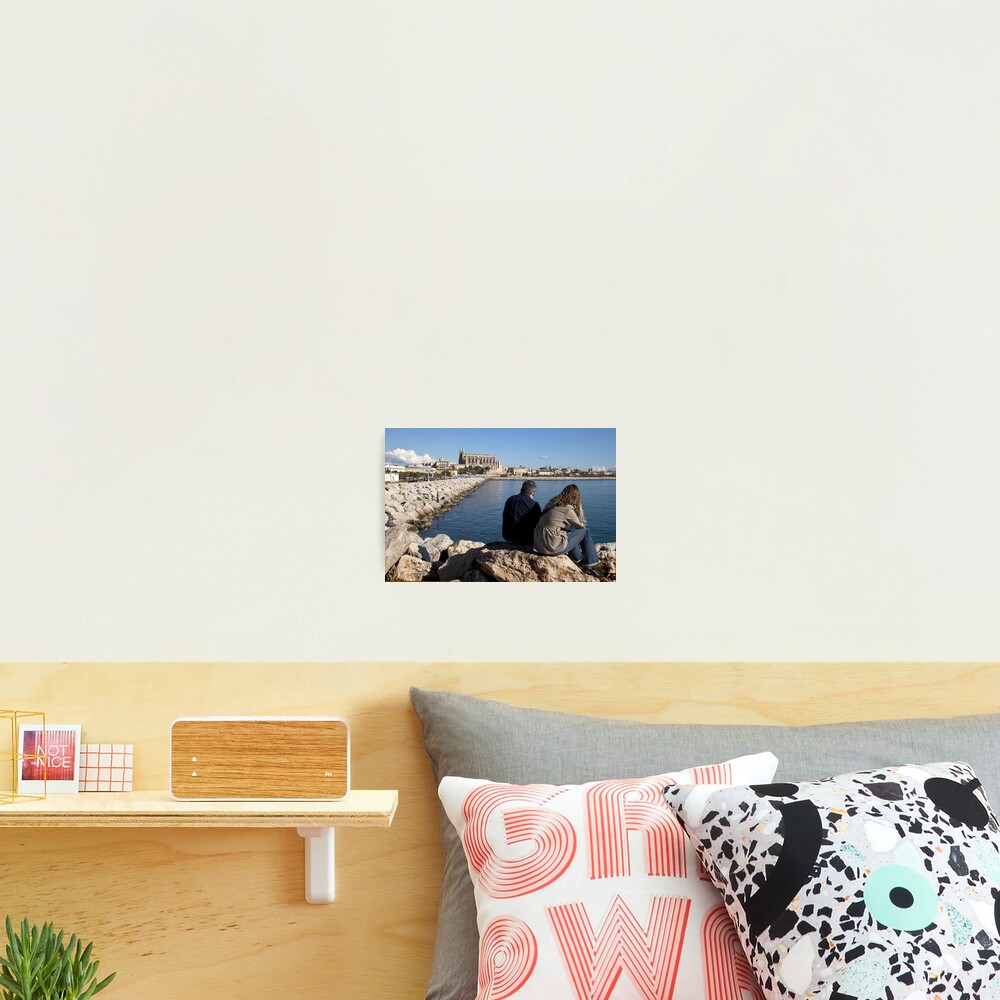 View of the Cathedral from a spot in Palma harbour Photographic Print