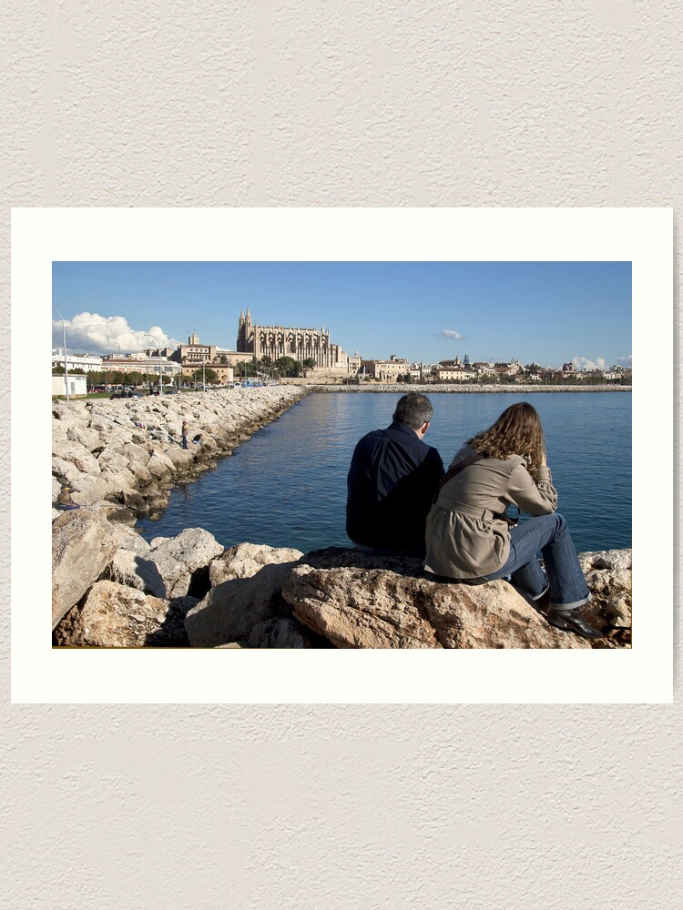 Alternate view of View of the Cathedral from a spot in Palma harbour Art Print