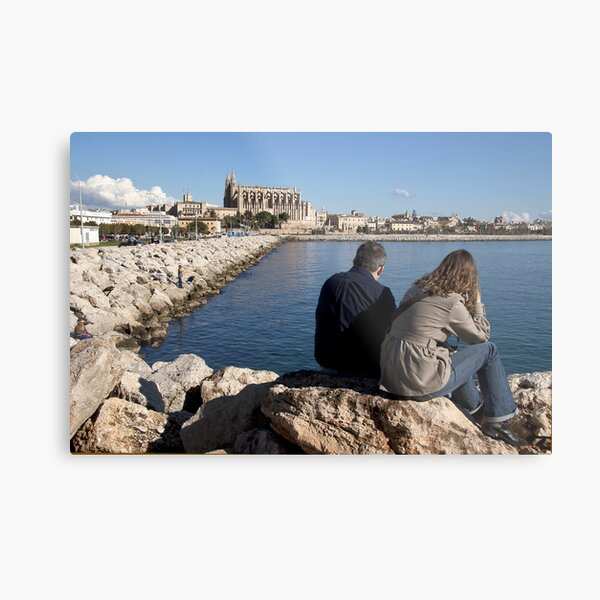 View of the Cathedral from a spot in Palma harbour Metal Print