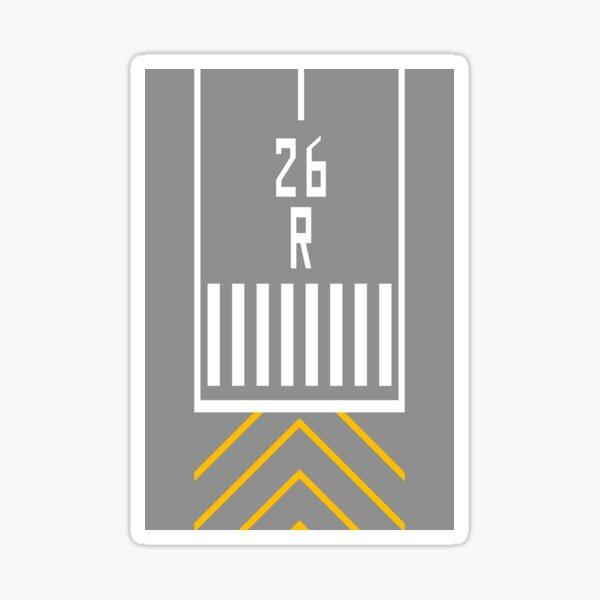 Threshold RWY 26R Sticker