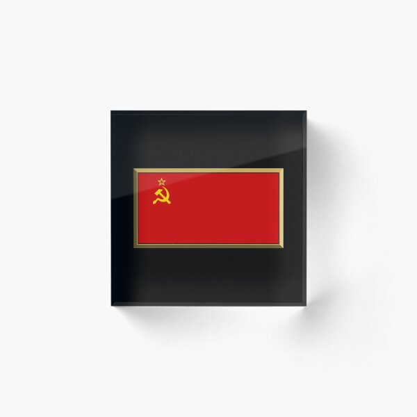 Soviet Union - USSR Flag Stickers, Gifts and Products Acrylic Block