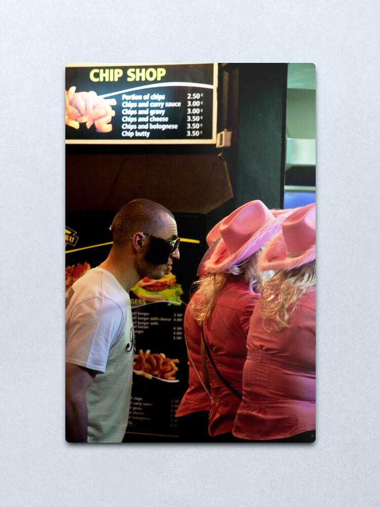 Alternate view of Chips & Burger or Chips & Kebab? Metal Print