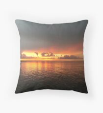 Sunset - Jamieson Park, Redcliffe Throw Pillow