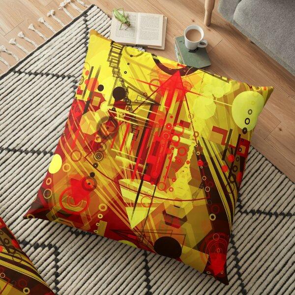 Steampunk city Floor Pillow