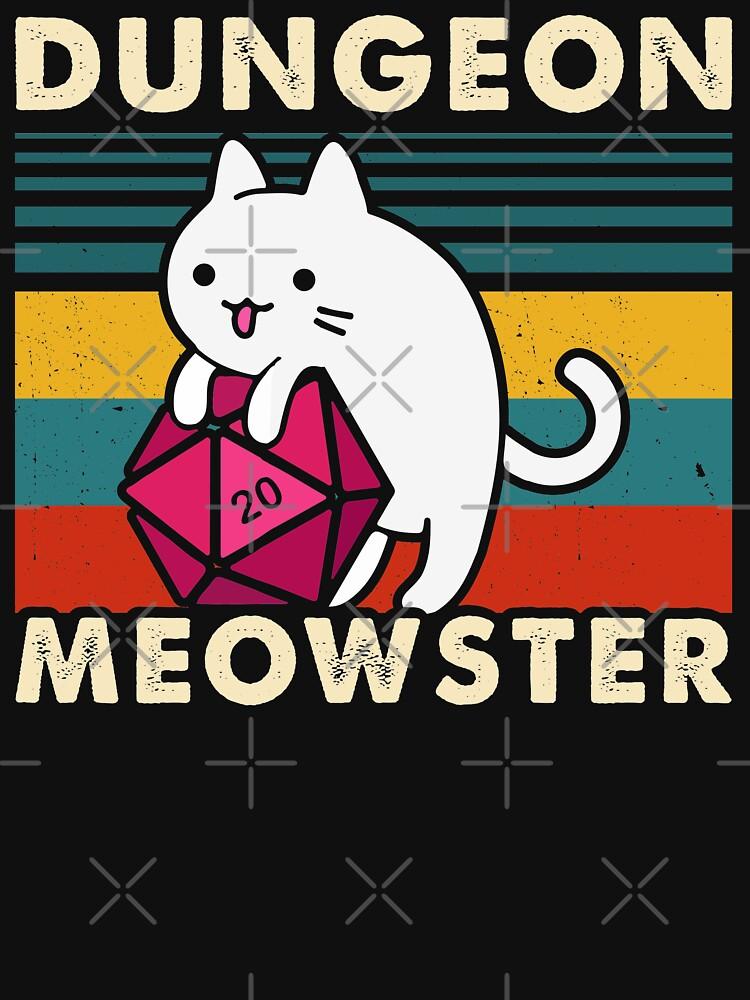 Dungeon Meowster Divertido DnD Tablero Gamer Cat D20 de monsterclub