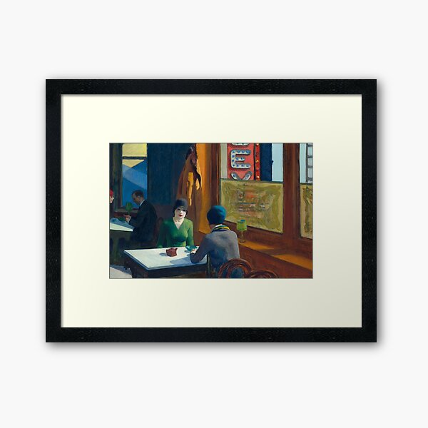 Chop Suey - Edward Hopper Framed Art Print