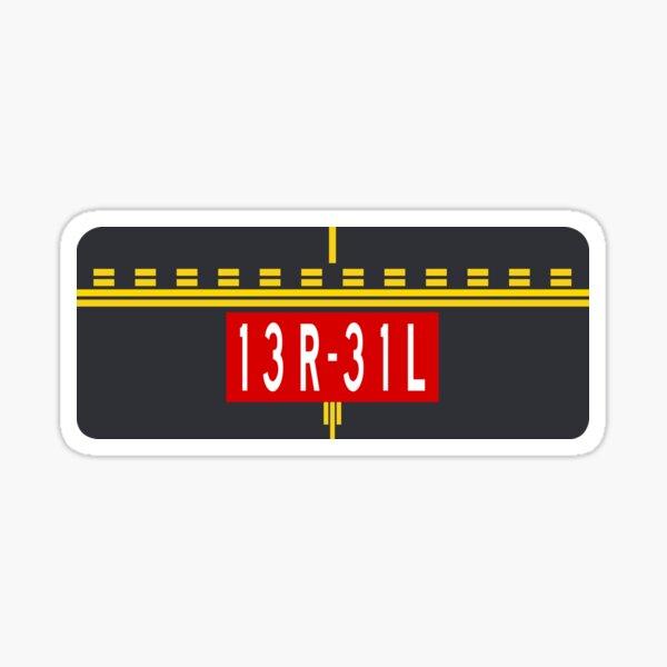 Holding Point Marking 13R-31L Sticker