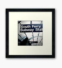 South Ferry Subway Framed Print
