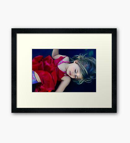 the calming blue corner Framed Print
