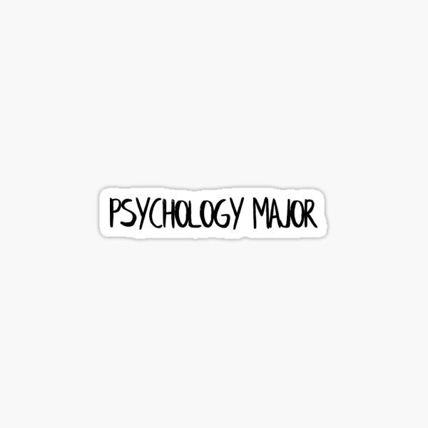 Psychology Major Sticker