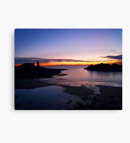 Sunset Portpatrick Harbour Canvas Print