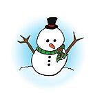 Cute Kawaii Christmas Xmas Snowman by Karen-Anne Geddes by puzzledcellist