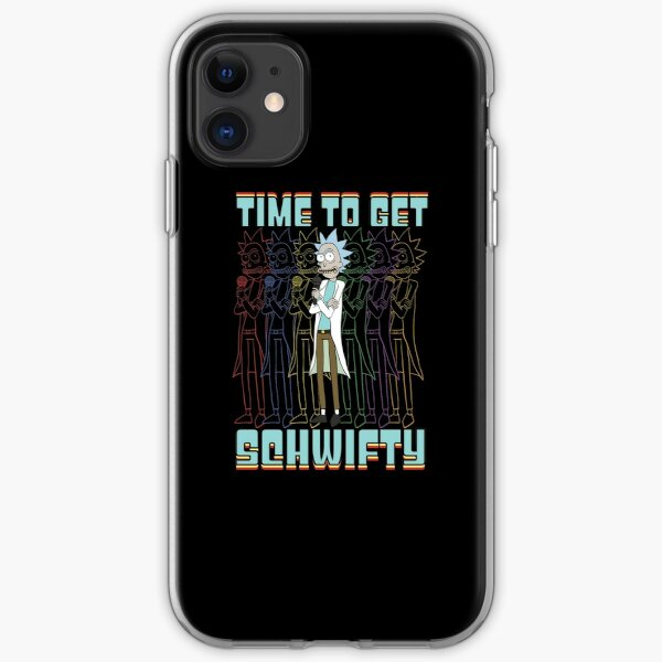 Time To Get Schwifty Rick and Morty Funny Schwifty Rick Shirt Gift iPhone Soft Case