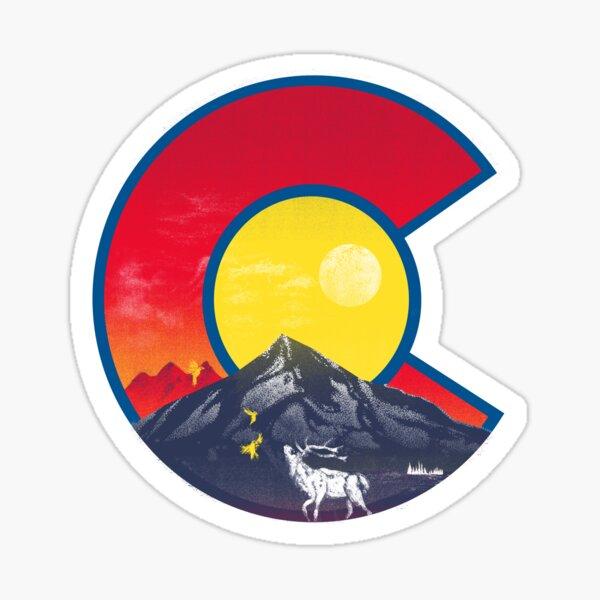 elk colorado flag Sticker