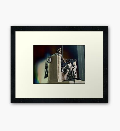Do I have to get out of my chair and straighten things out? Framed Print