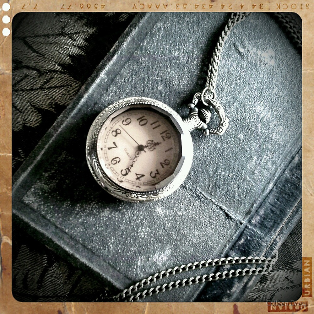 Old Book and Watch by Colleen Drew