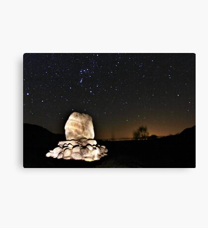 Orion Over Bruces' Stone Canvas Print