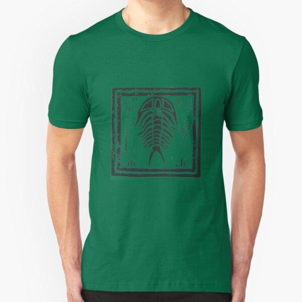 Trilobite with Border Slim Fit T-Shirt