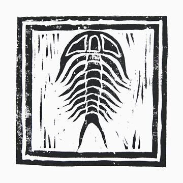 Trilobite with Border by Laliibeans