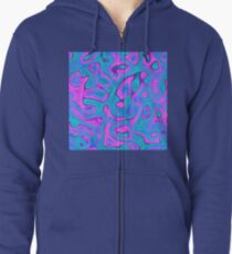 Abstraction Zipped Hoodie
