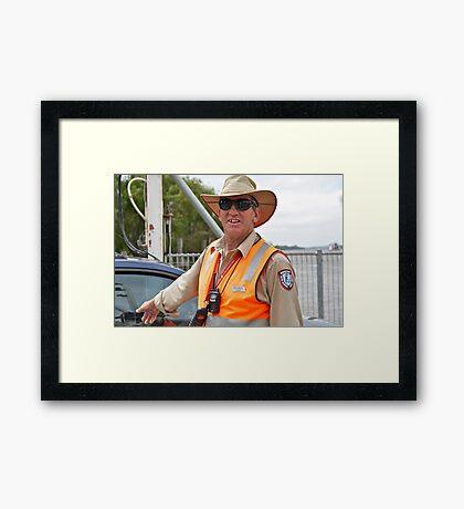 Portrait of a Stranger 2  Framed Print