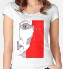Das Gesicht einer Frau Tailliertes Rundhals-Shirt