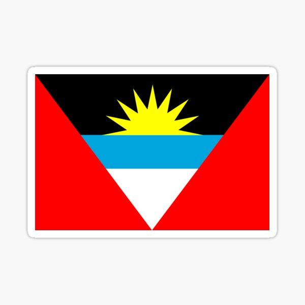 flag of antigua and barbuda Sticker