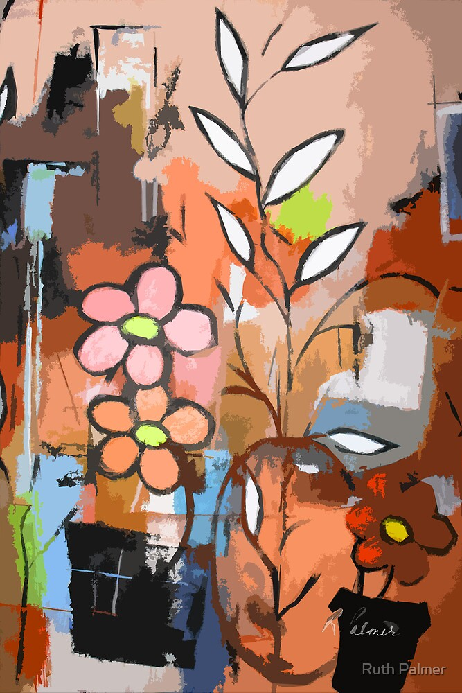 Fuddled Floral by Ruth Palmer