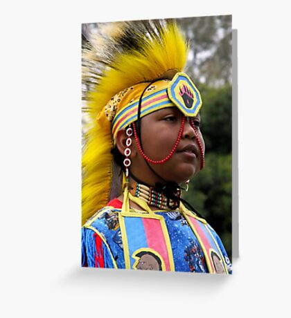Young Warrior-Heritage Pride Greeting Card