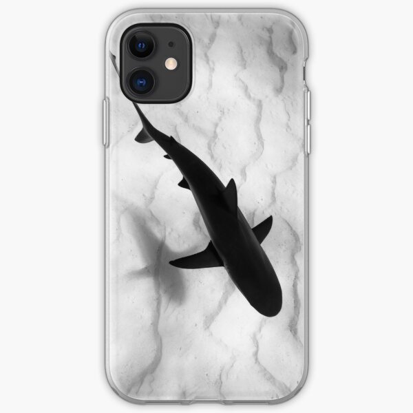 Shark in silhouette iPhone Soft Case