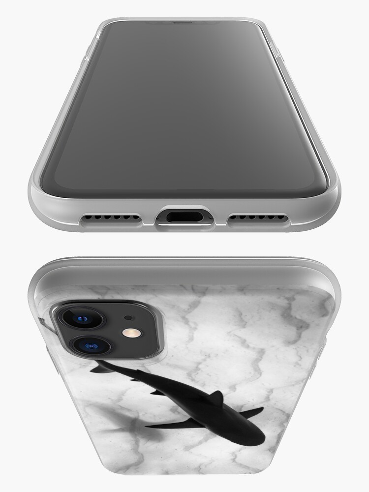 Alternate view of Shark in silhouette iPhone Case & Cover