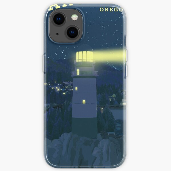 Life is Strange - Arcadia Bay Travel Poster (Night) iPhone Soft Case