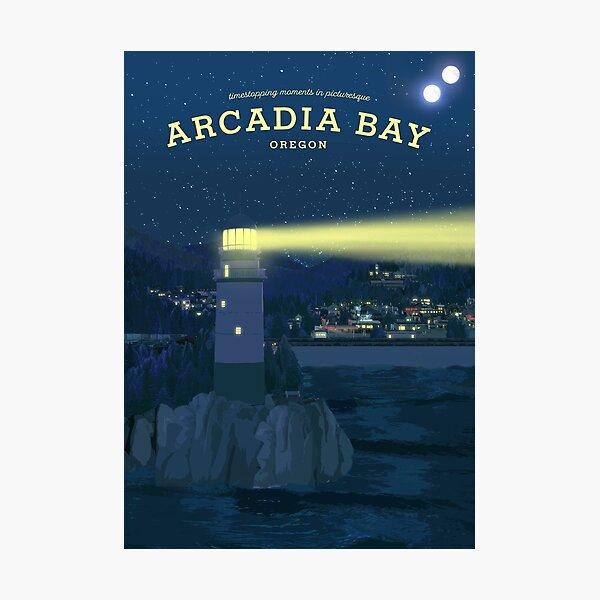 Life is Strange - Arcadia Bay Travel Poster (Night) Photographic Print
