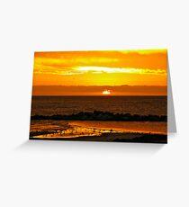 Sunset Bar view Greeting Card