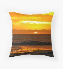Sunset Bar view Throw Pillow