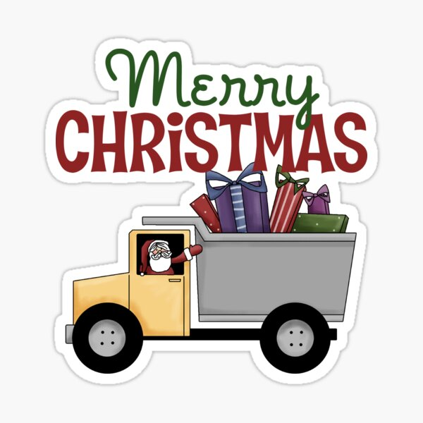 Merry Christmas Truck Driver Sticker