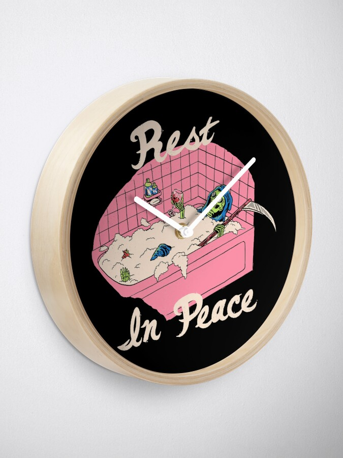 Alternate view of Rest In Peace Clock
