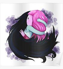 Bubbline Umarmung aus Folge - komm mit (Adventure Time Fan Art) Poster