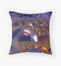 Construction Site at Night Throw Pillow