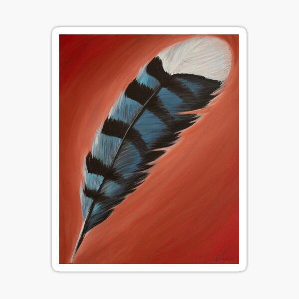 Blue Jay Feather #1 Sticker